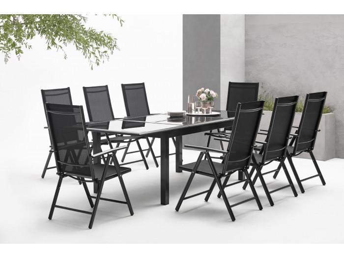 salon de jardin en aluminium 10 places torino bobochic. Black Bedroom Furniture Sets. Home Design Ideas