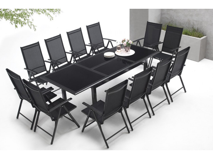 Garden furniture aluminium 12 seater Torino