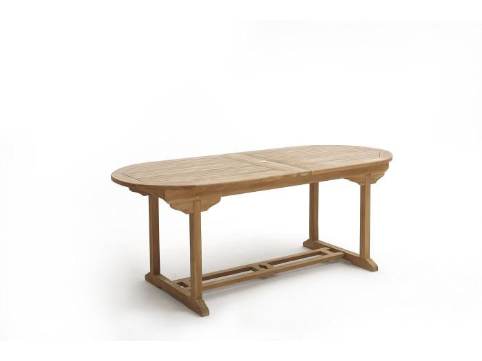 Table Ovale 4 chaises + 2 fauteuils Brut Massif