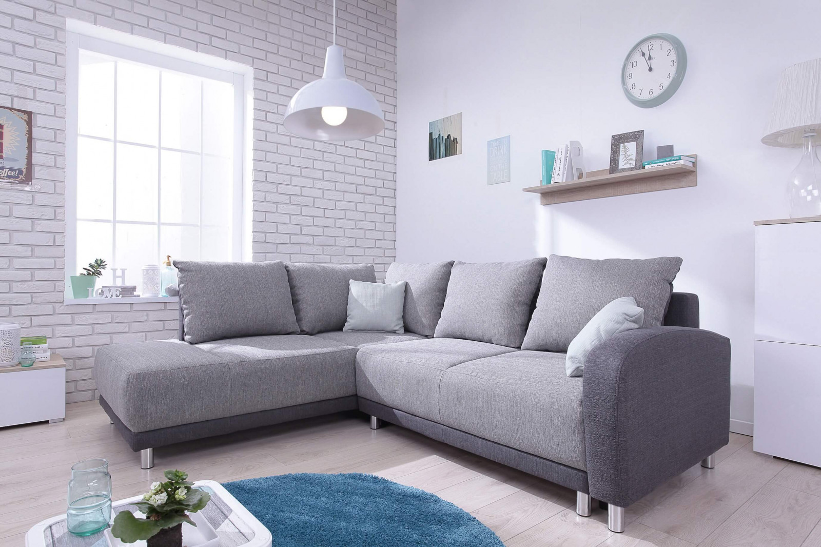 Sofa large corner convertible THE MINTY | BOBOCHIC ®