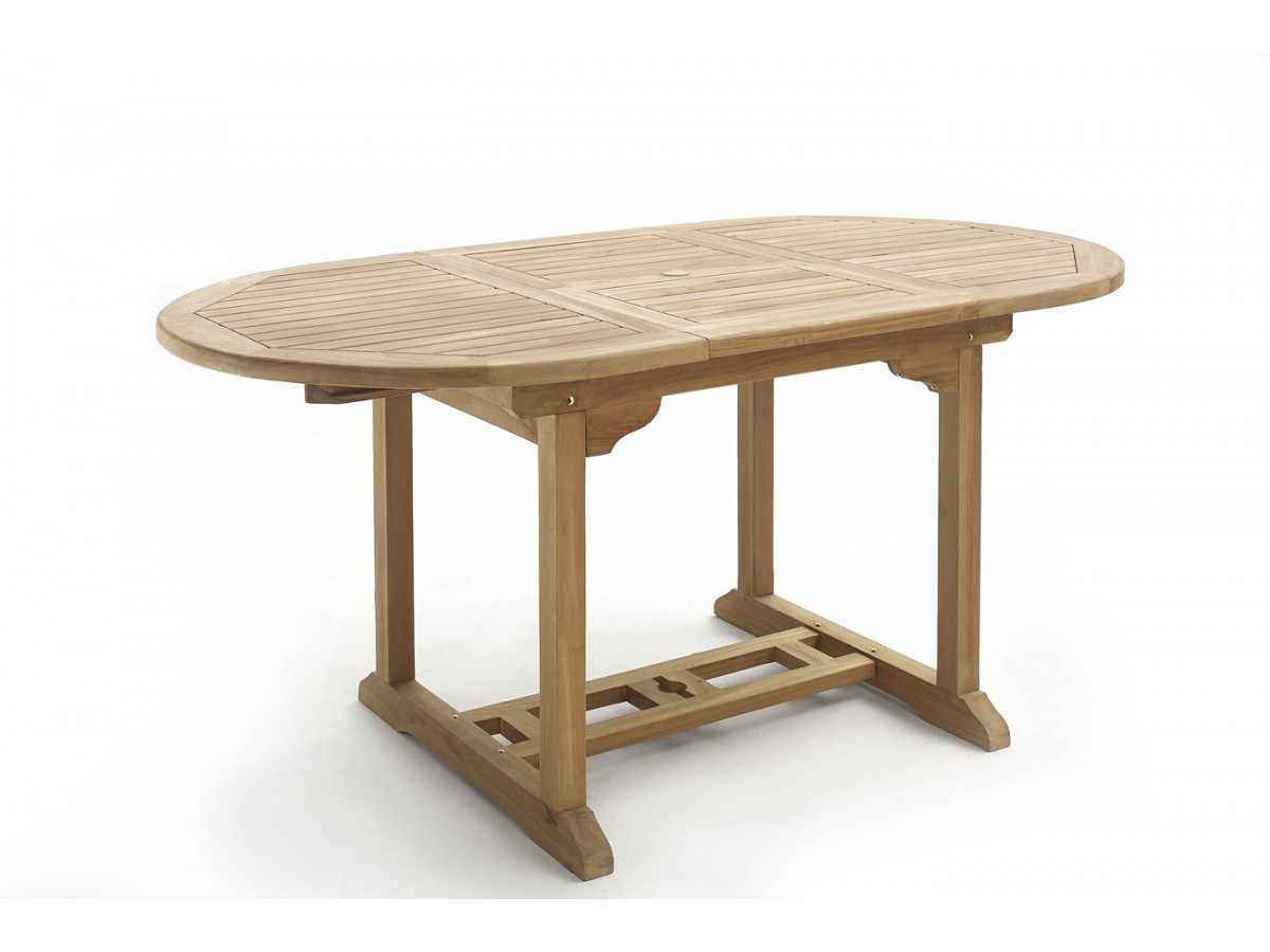 Table ovale 12 chaises teck brut massif bobochic paris for Table exterieur ovale