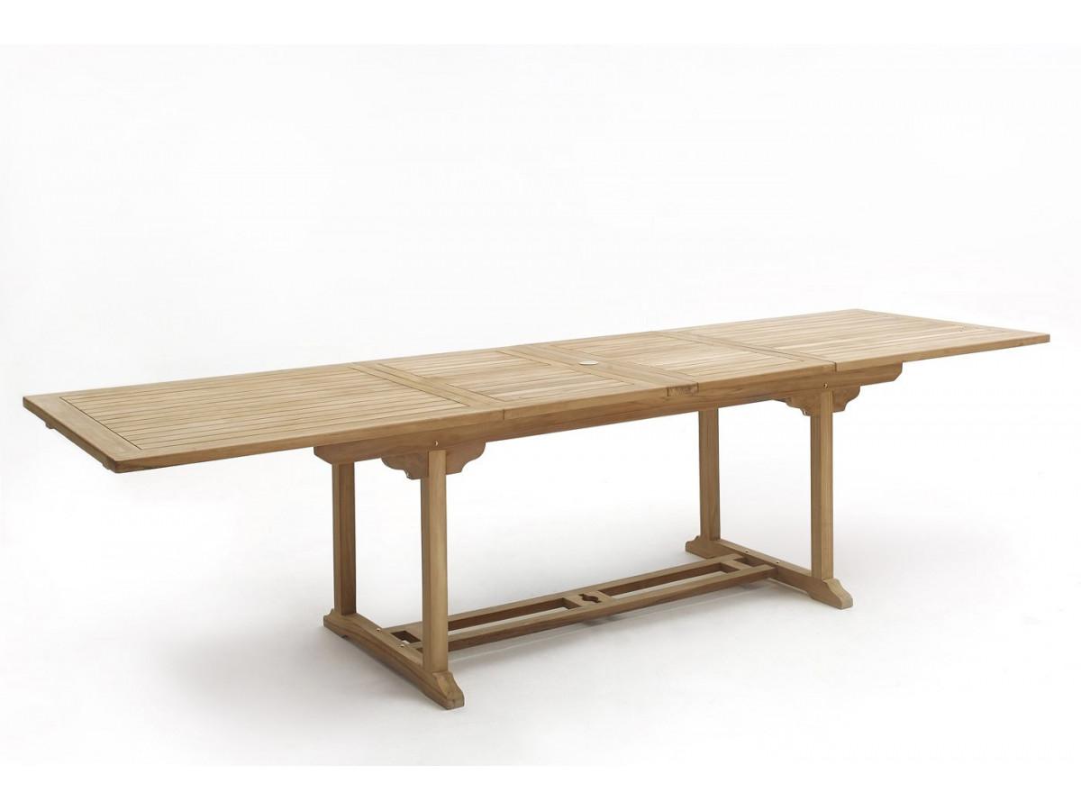 Table rectangle 6 chaises teck brut massif bobochic paris for Table 4 chaises