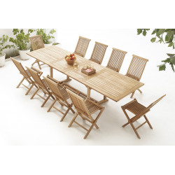 Table rectangle 10 chaises  Brut Massif