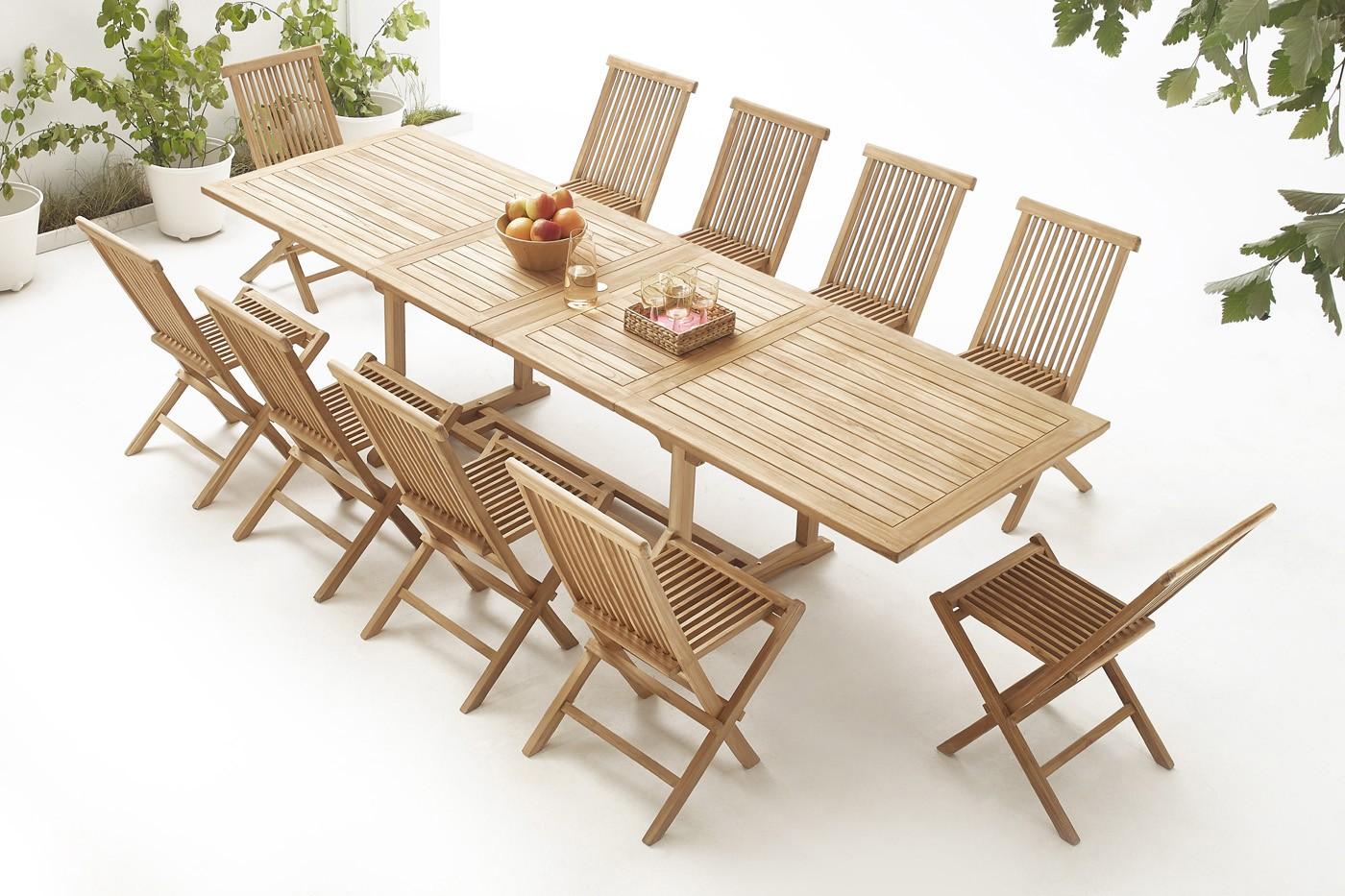 Wunderbar Tisch Massiv Sammlung Von Rechteck 10 Stühle Roh
