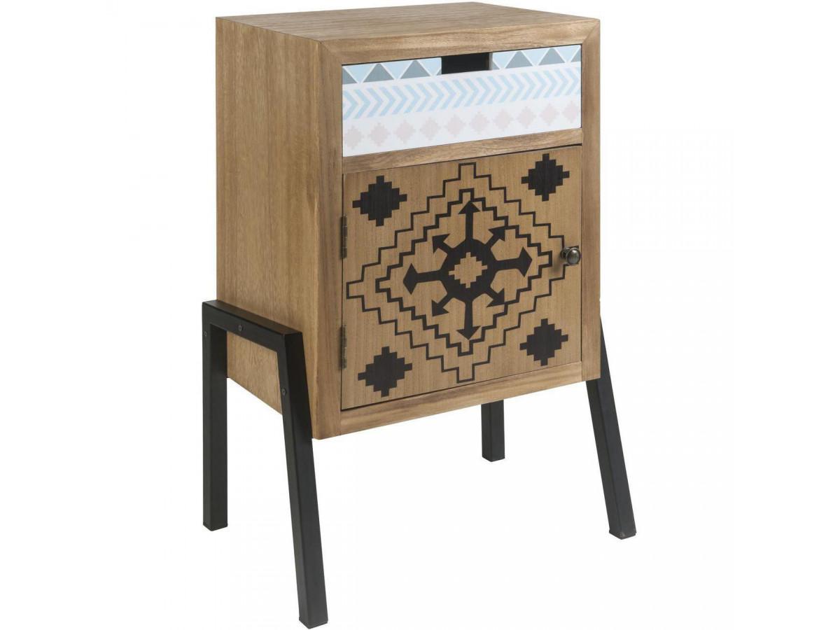 Chevet design en bois Meridia Bois