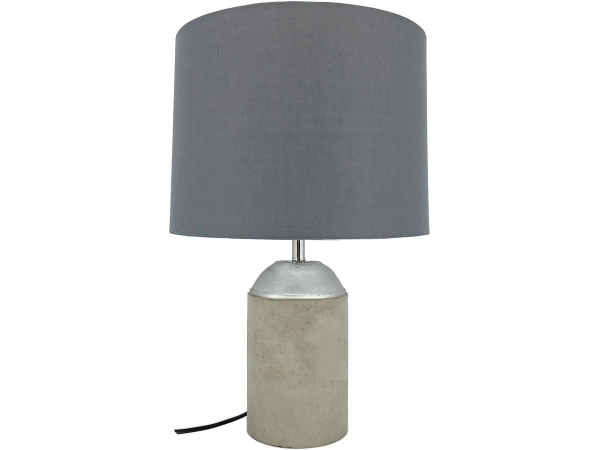 Lampe Beton et abat jour tissu Edson Beton