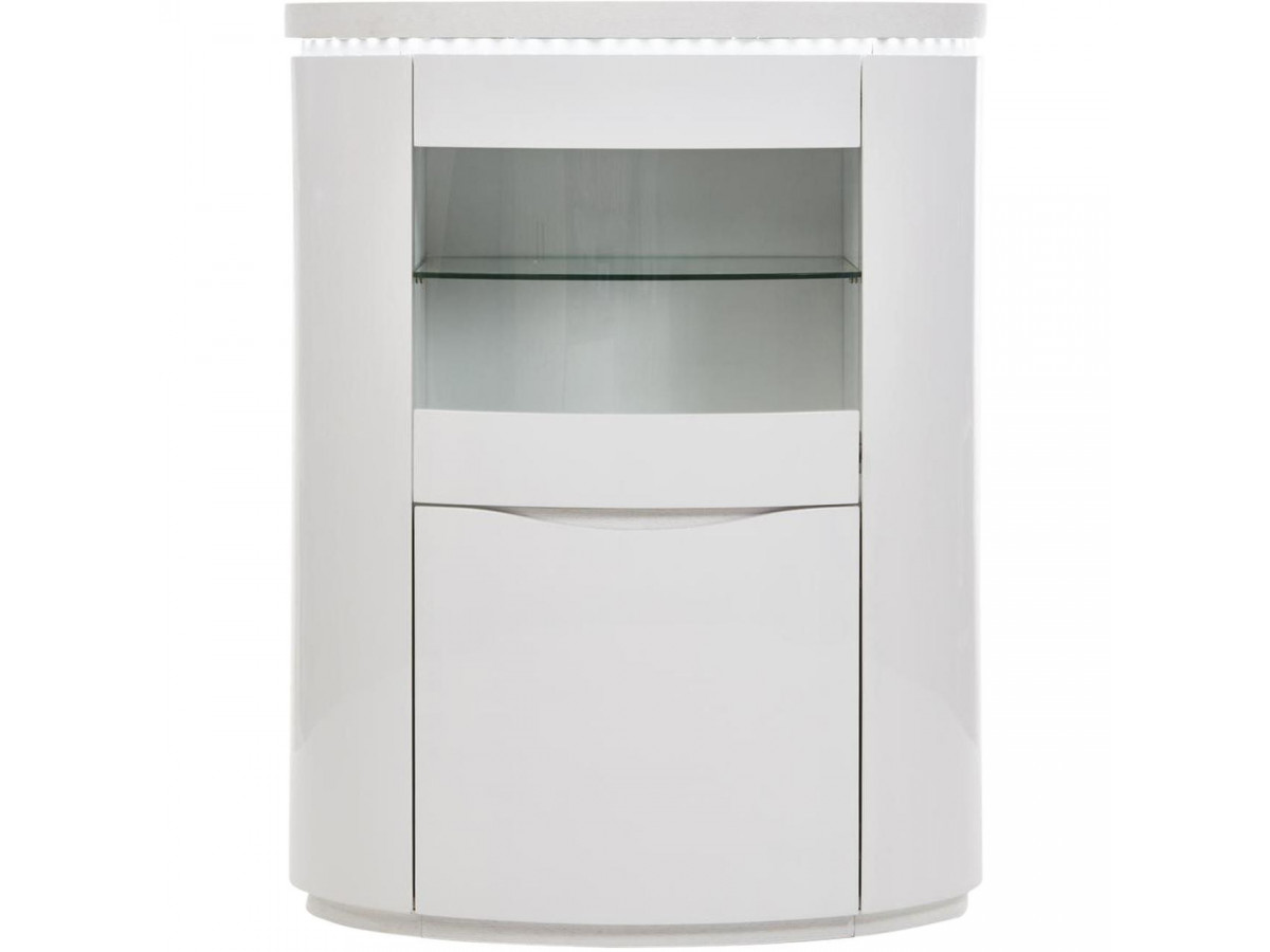 Meuble de bar 2 Ellipse Blanc