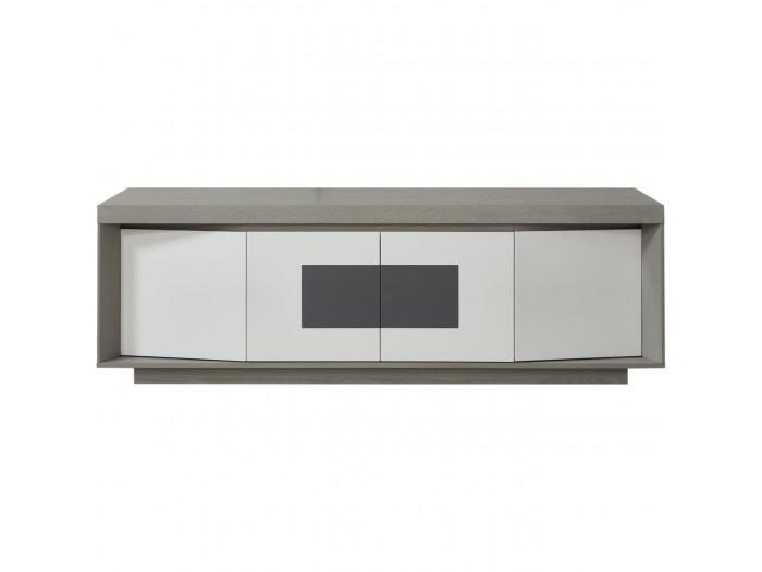 Meuble Tv En Bois Design Plymouthtel Gris Blanc