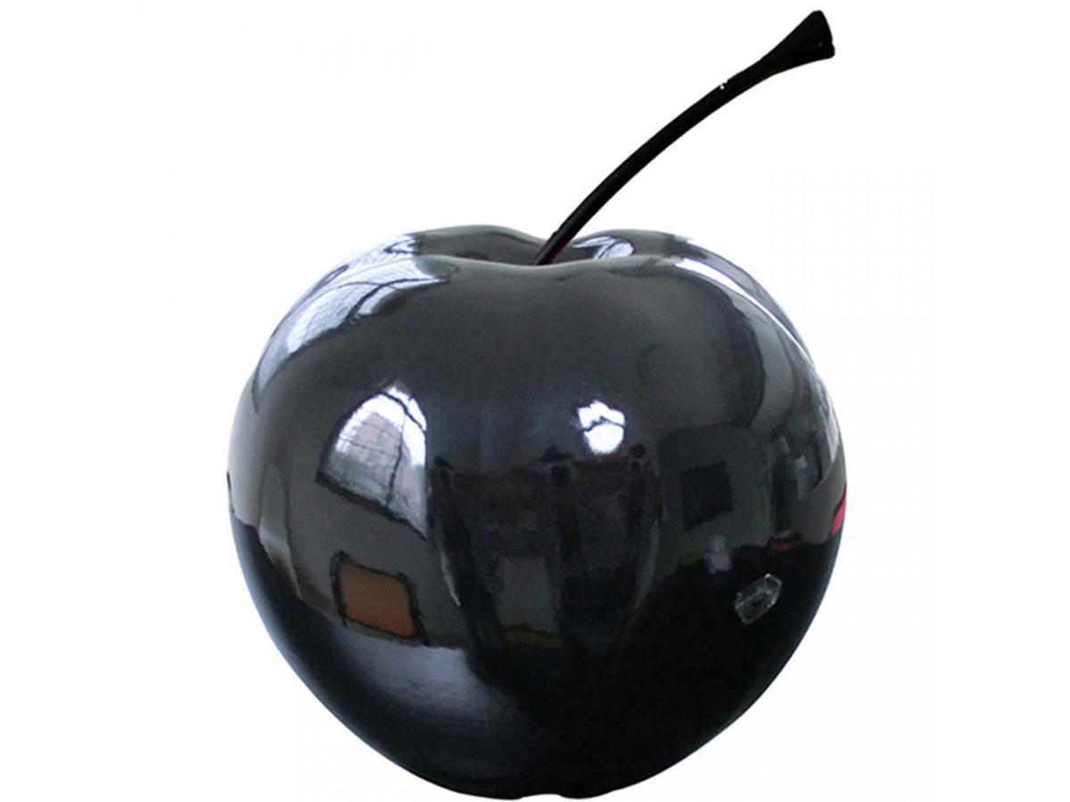 Pomme en resine elegante Finlay Noir