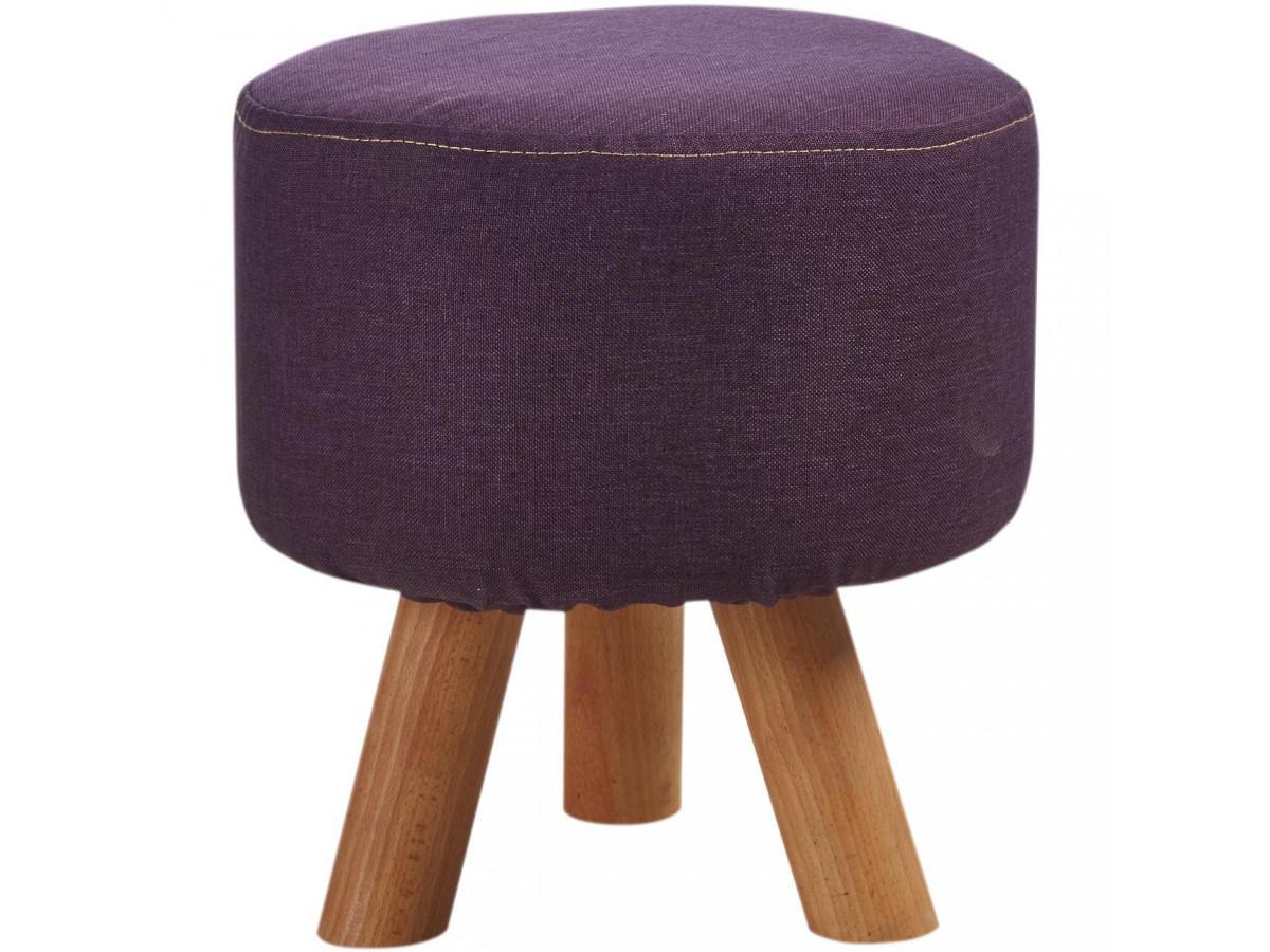 Pouf Design et conforTable Khalida Violet