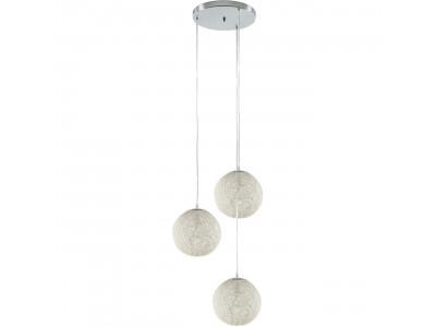 Suspension trois boules Oppala Blanc