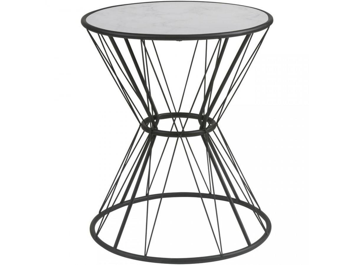 Table d'appoint design Ivo Noir & Blanc