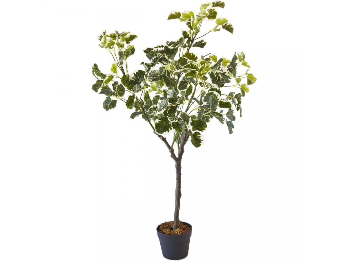 Plante artificielle en polyethylène a 210 feuilles et son pot noir Olla