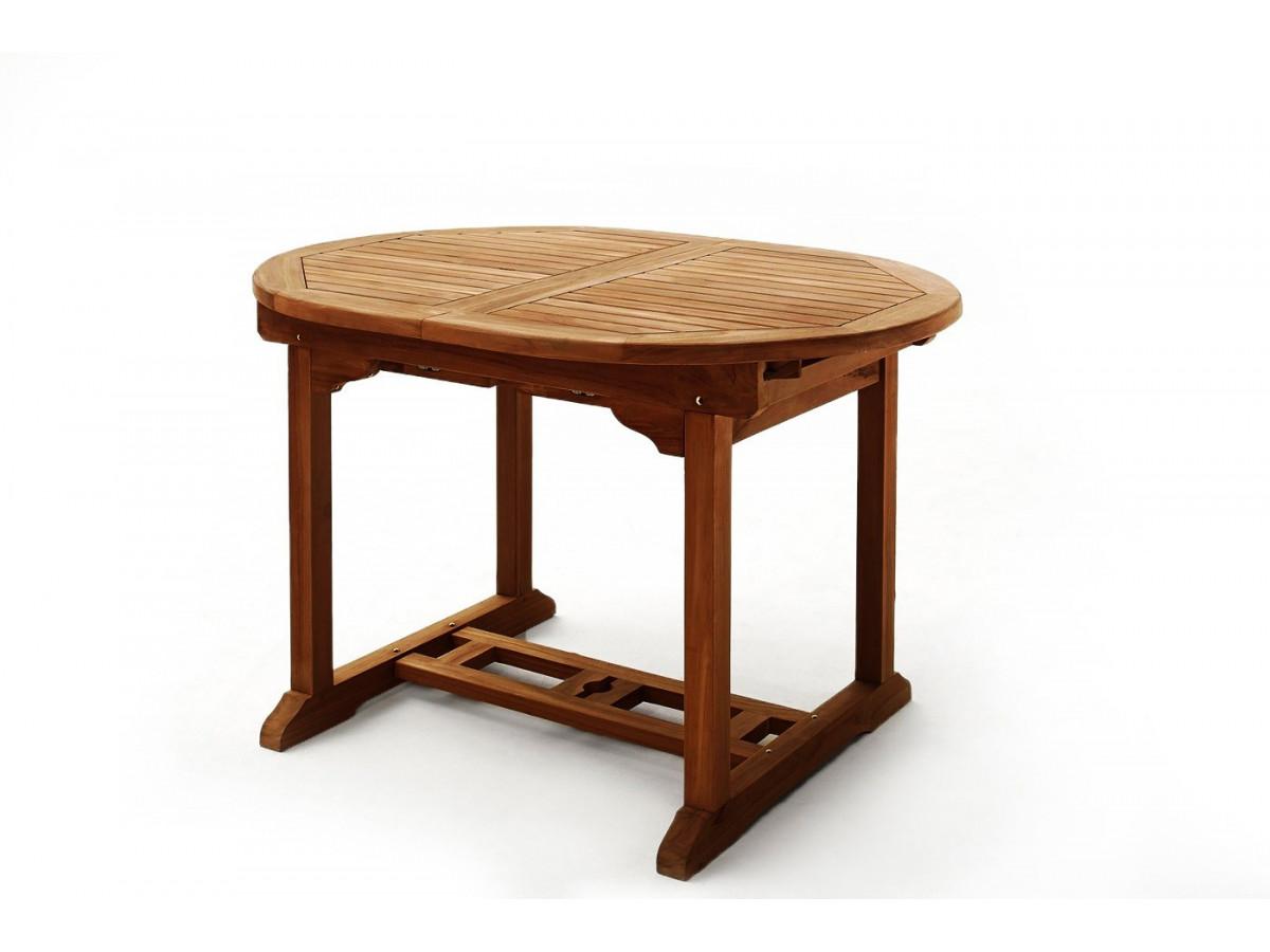Table ovale 8 chaises teck huil bobochic paris for Table exterieur ovale