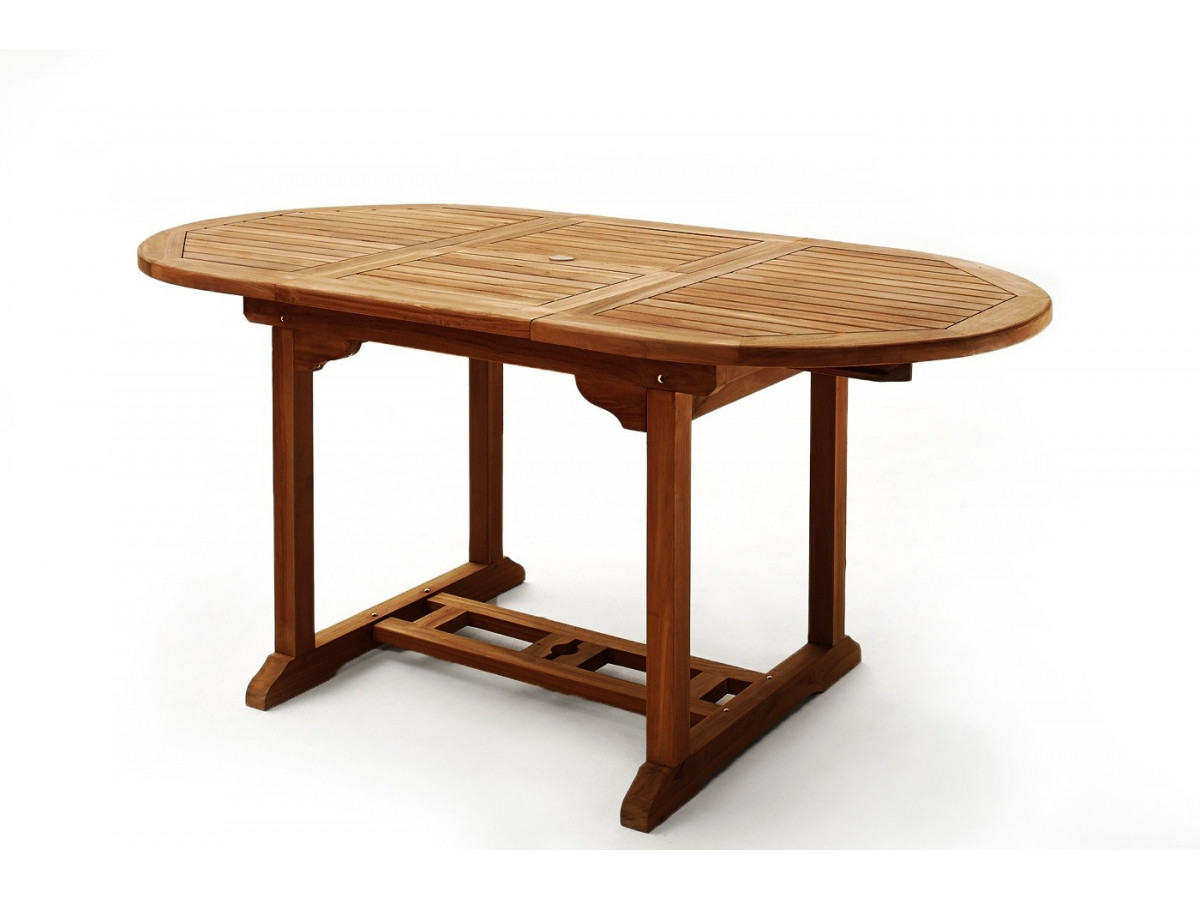 Table ovale 6 chaises 2 fauteuils teck huil bobochic paris for Table 6 chaises but