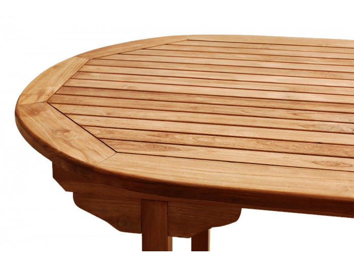 Table Ovale 8 chaises + 2 fauteuils TECK Huilé