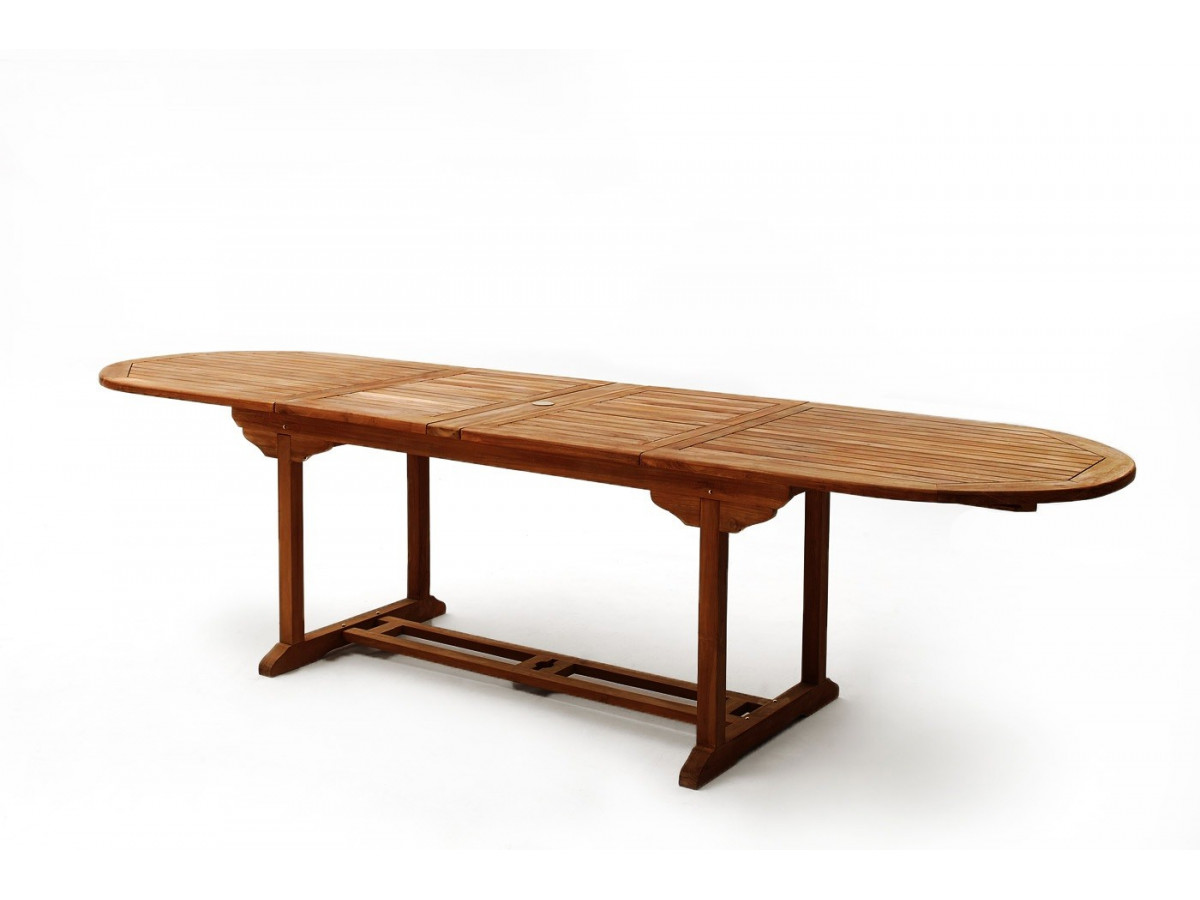 Table ovale 10 chaises 2 fauteuils teck huil bobochic paris for Table exterieur ovale