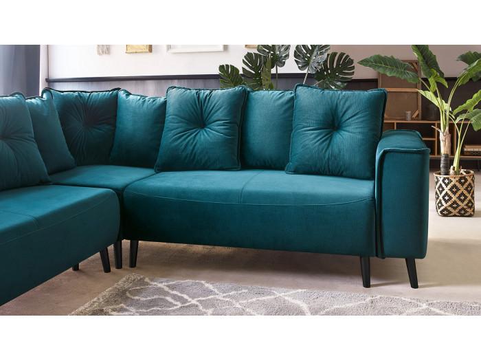 Sofa angle PANORAMIC convertible HERA