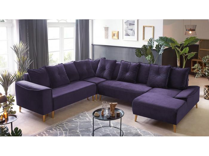 Sofa narożna Panoramiczny XXL cabrio HERA