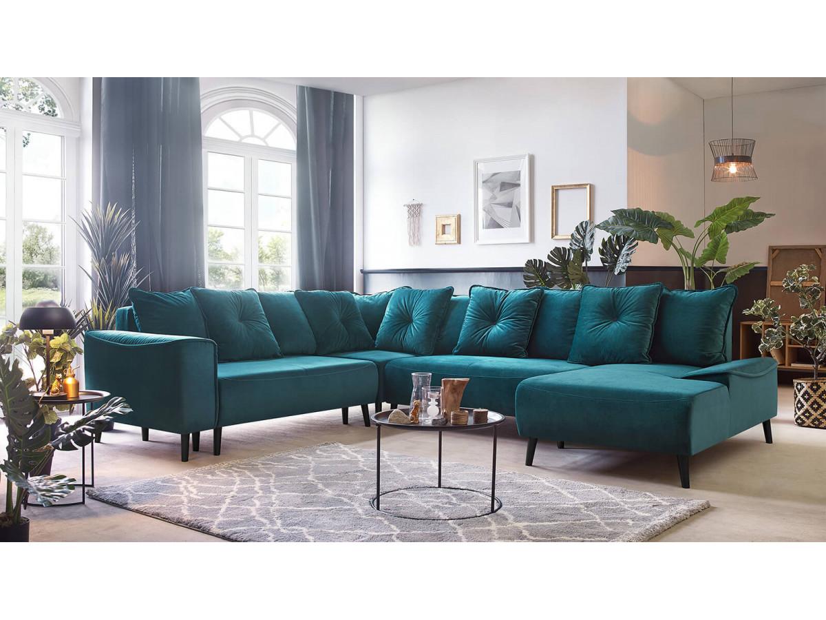 Sofa angle Panoramic XXL convertible HERA