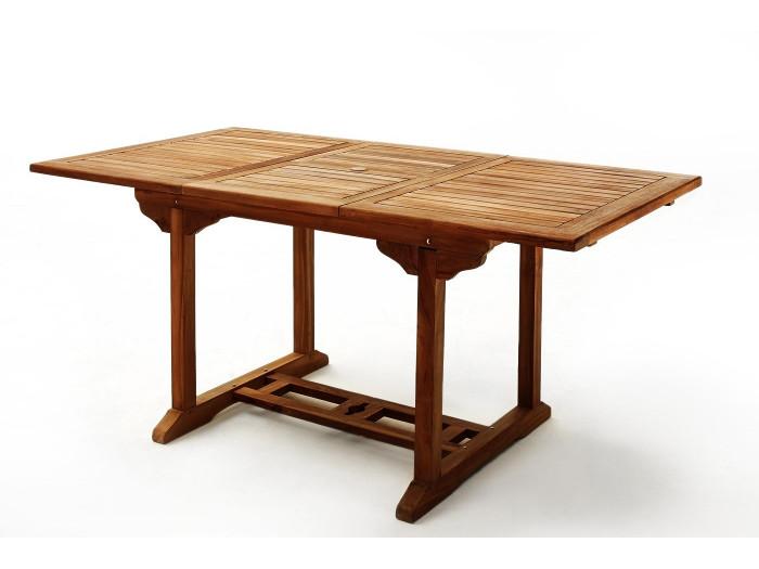 Table rectangle 8 chaises TECK Huilé