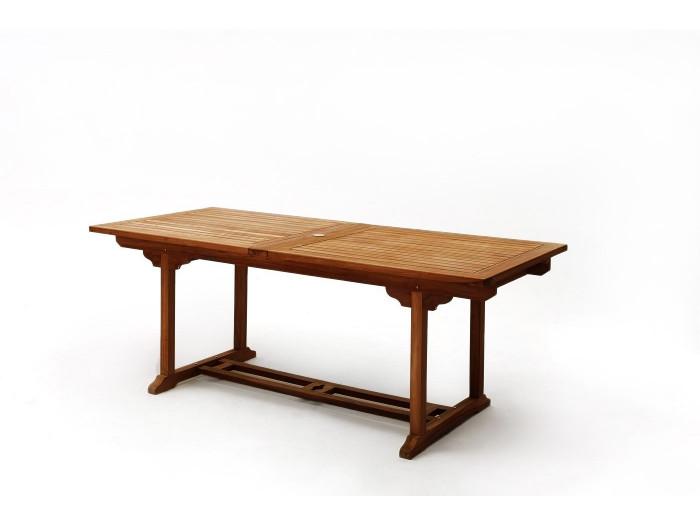 Table rectangle 12 chaises TECK Huilé