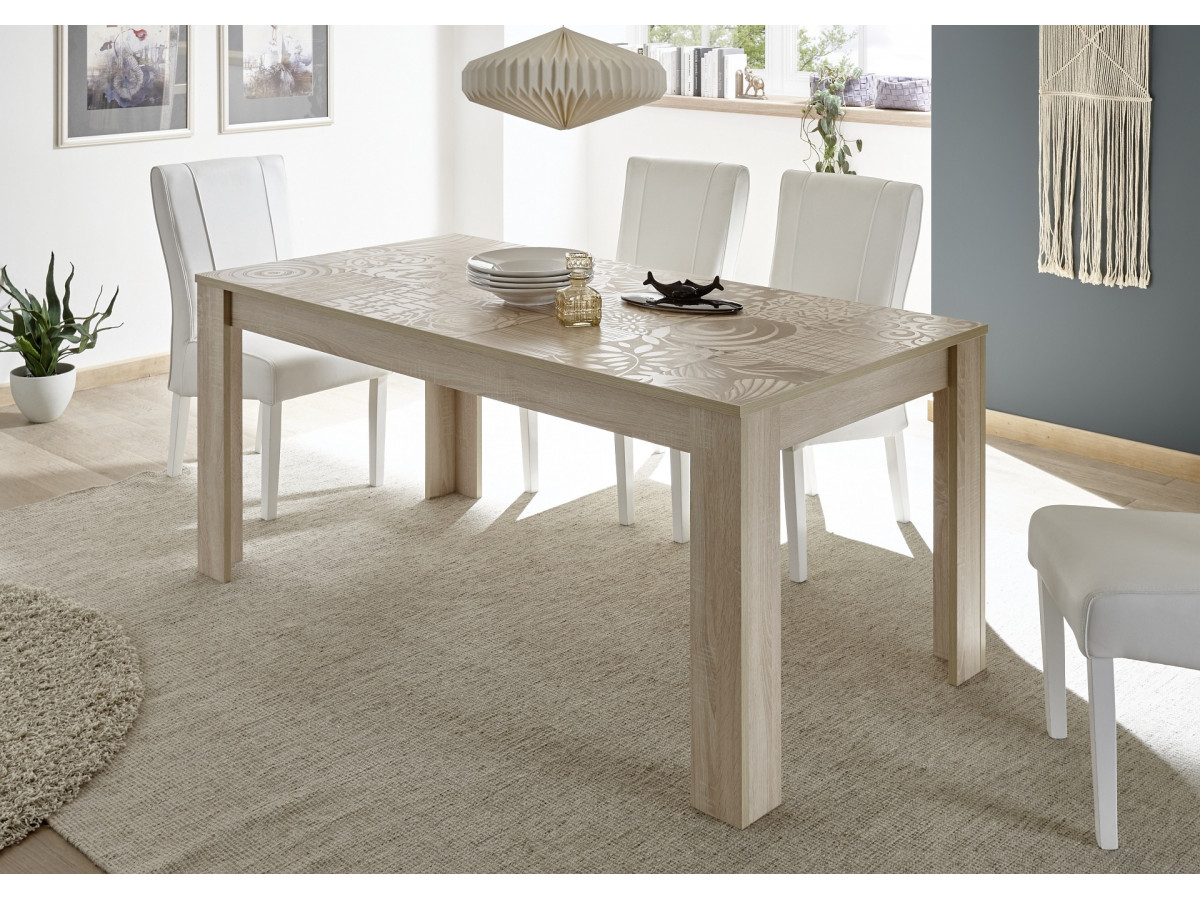 Table 180x90cm Serle Chene samoa
