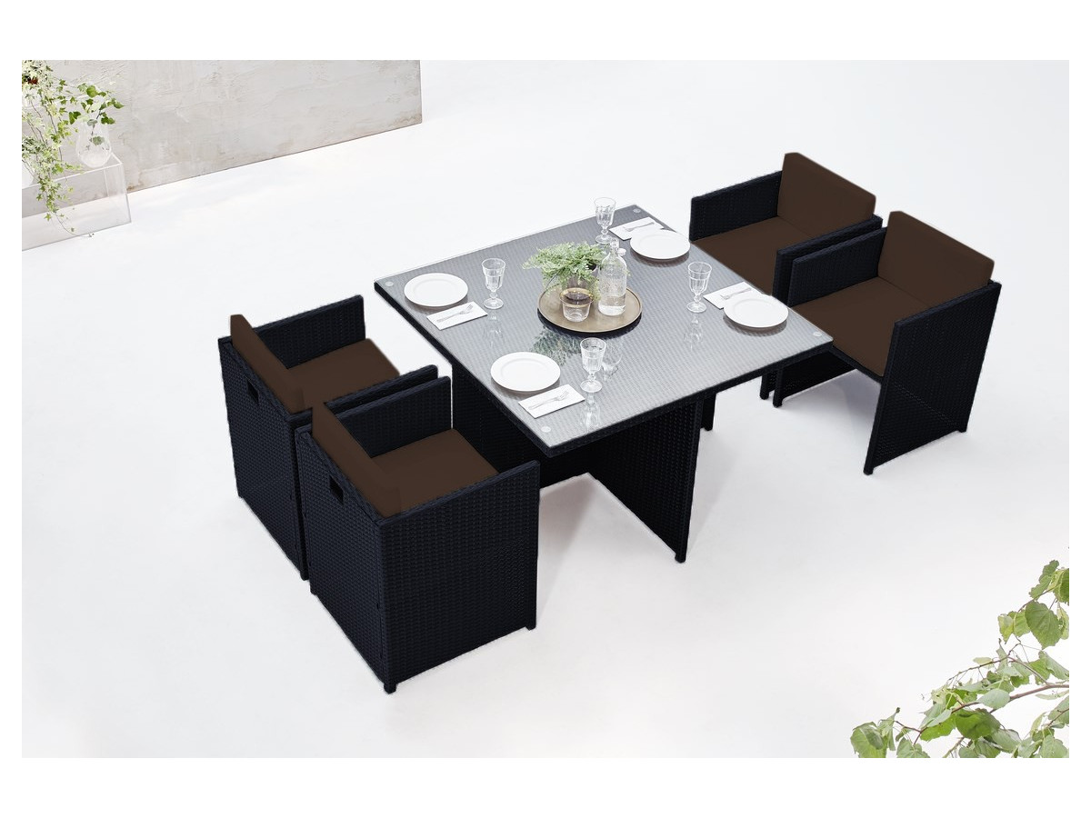 salon de jardin family 4 places bobochic. Black Bedroom Furniture Sets. Home Design Ideas