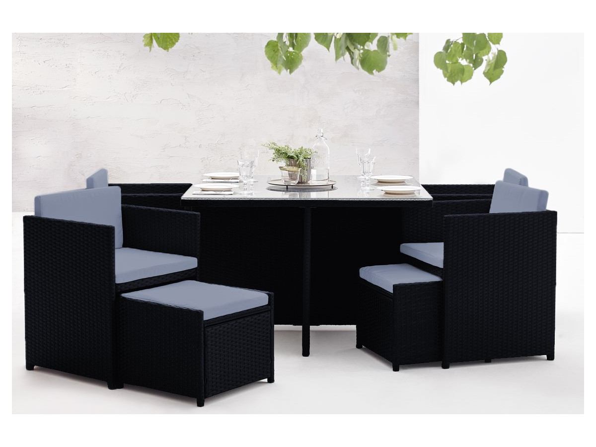 salon de jardin family 8 places bobochic paris. Black Bedroom Furniture Sets. Home Design Ideas