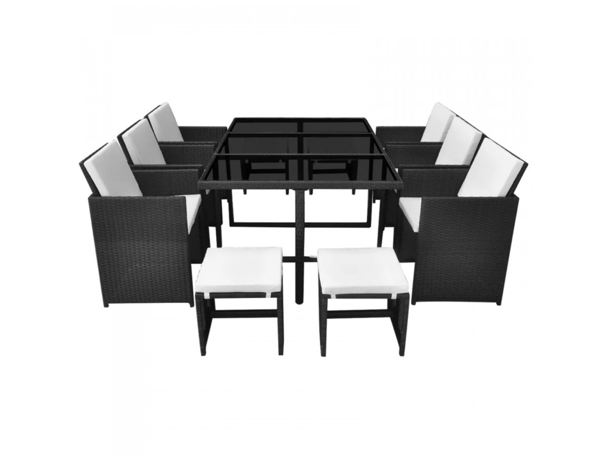 Ensemble table + fauteuils 10 places Maya