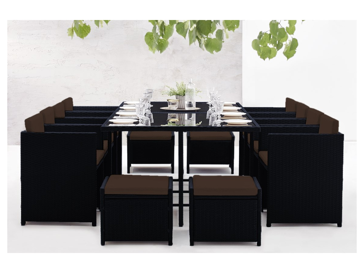 salon de jardin family 12 places bobochic paris. Black Bedroom Furniture Sets. Home Design Ideas