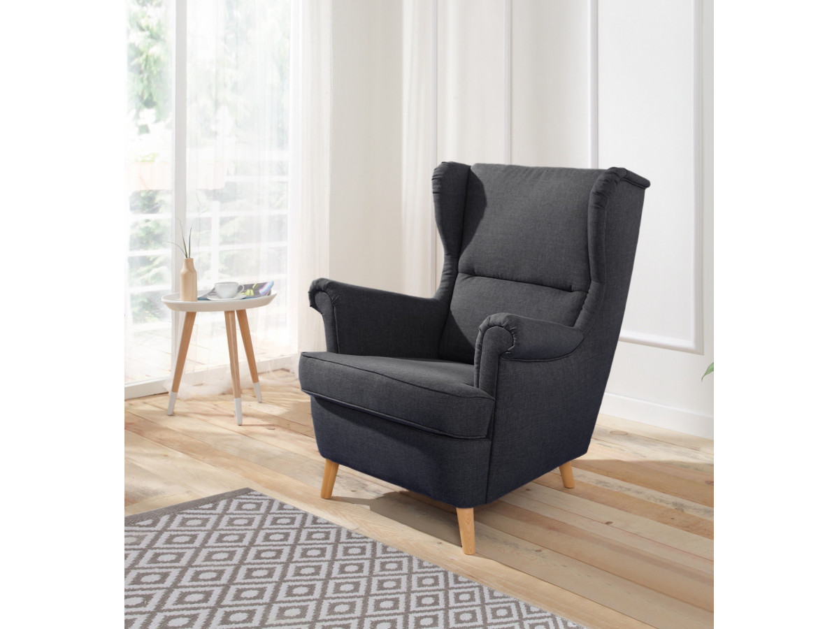 fauteuil tromso avec pouf bobochic paris. Black Bedroom Furniture Sets. Home Design Ideas