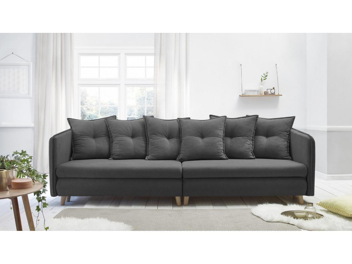 canap convertible coffre riga bobochic. Black Bedroom Furniture Sets. Home Design Ideas