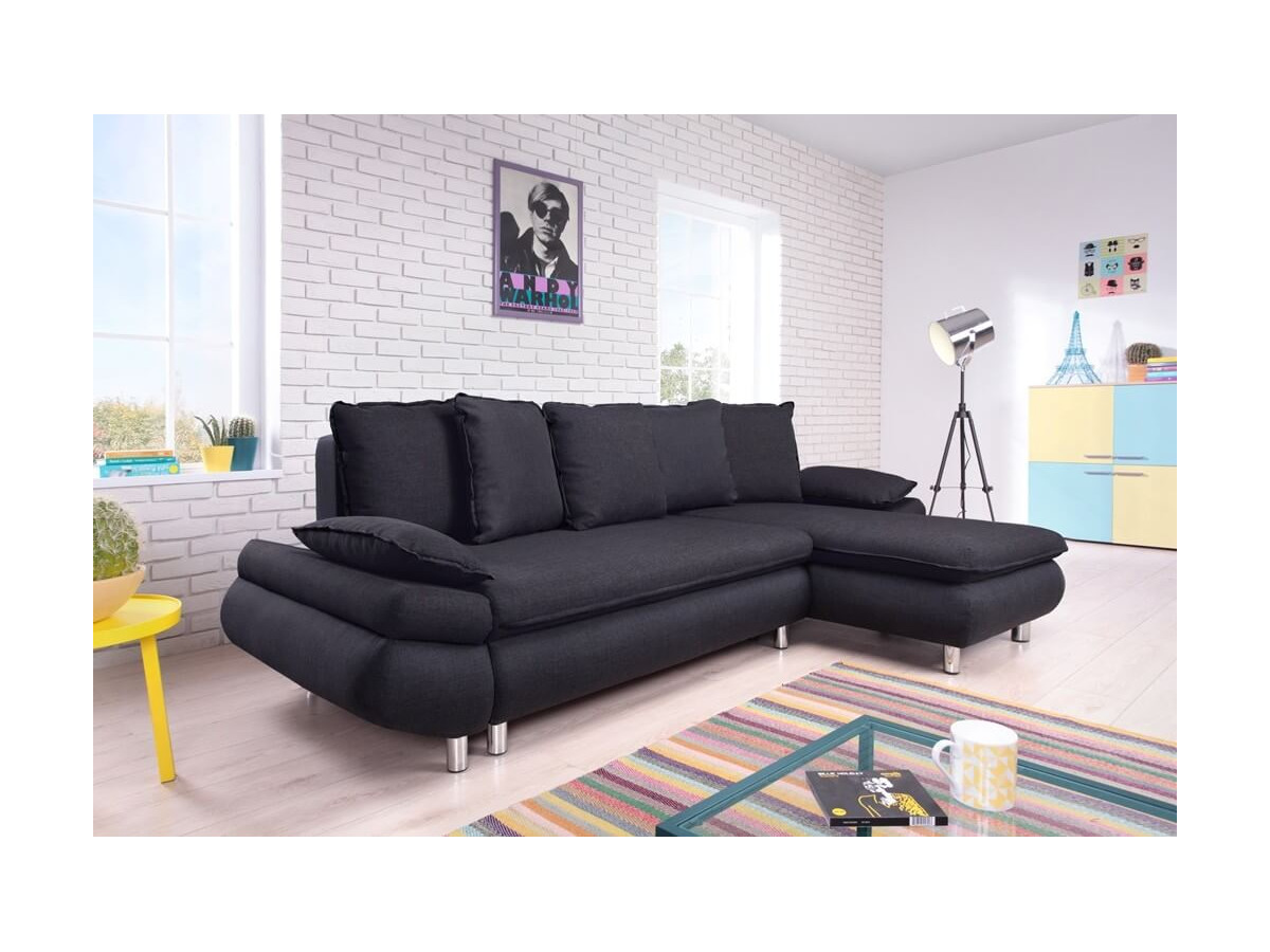 canap d 39 angle convertible r versible coffre nestor bobochic. Black Bedroom Furniture Sets. Home Design Ideas