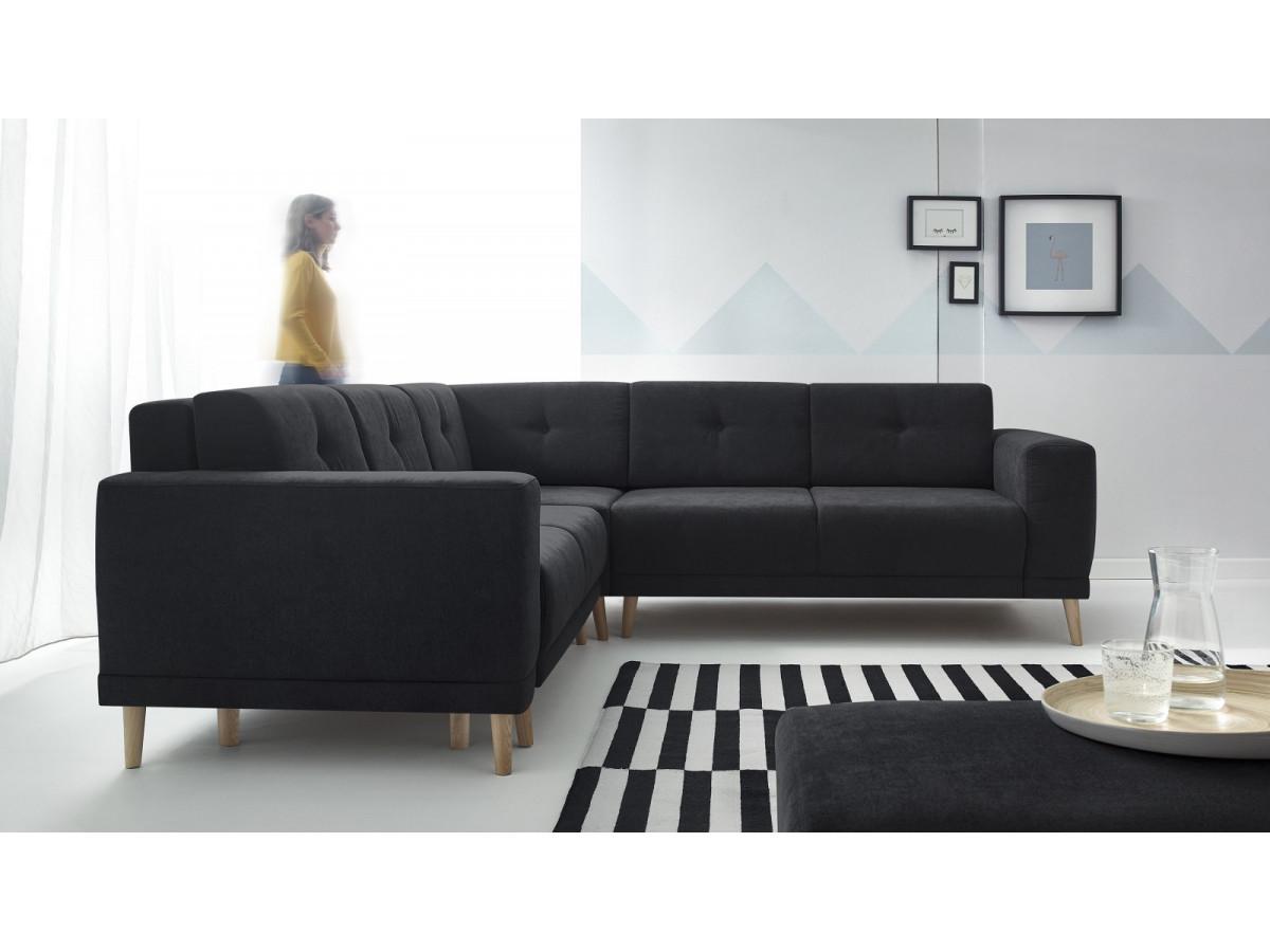 canap panoramique convertible avec pouf luna bobochic. Black Bedroom Furniture Sets. Home Design Ideas