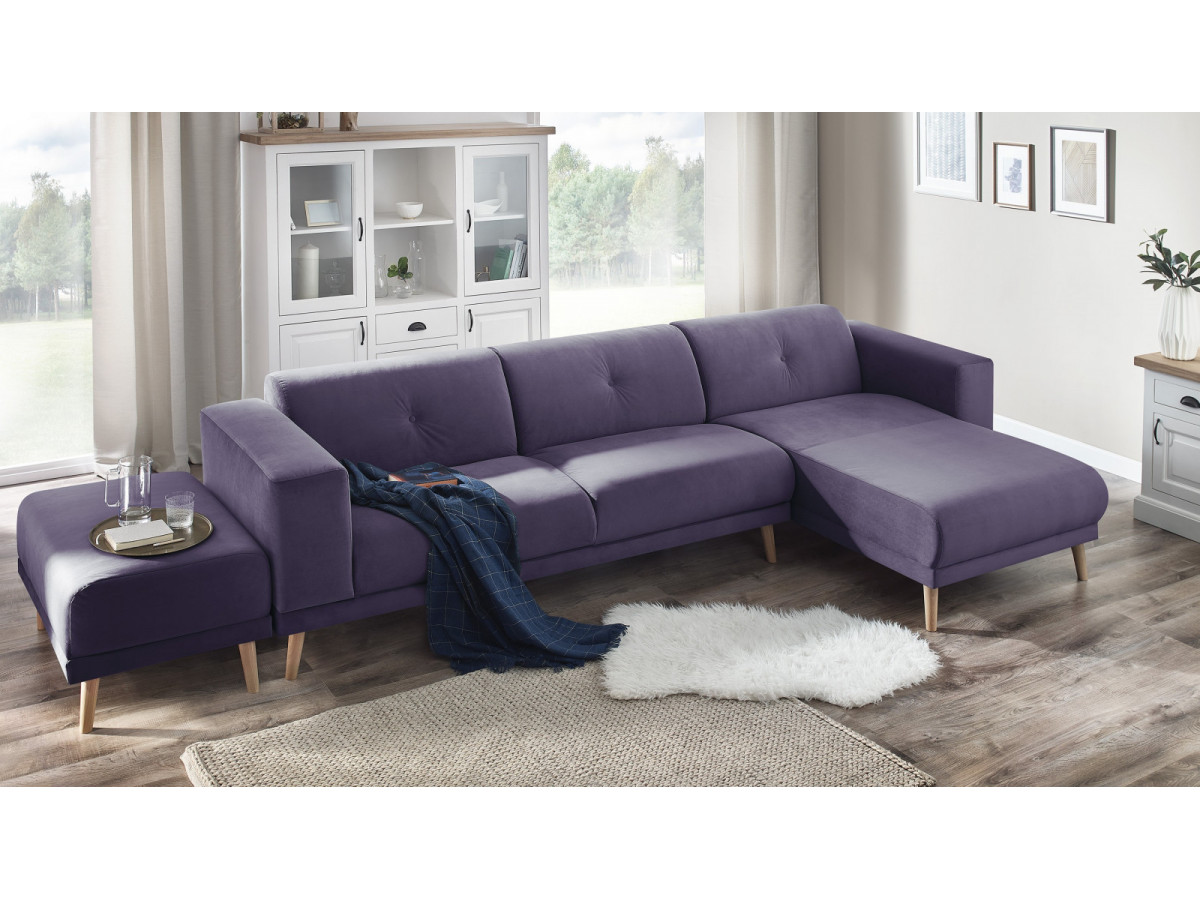 canap d 39 angle avec pouf luna bobochic. Black Bedroom Furniture Sets. Home Design Ideas