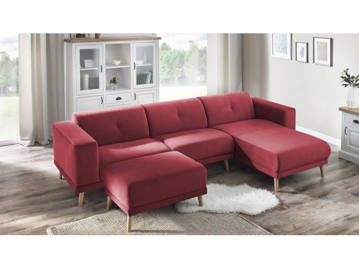 Corner sofa LUNA with ottoman