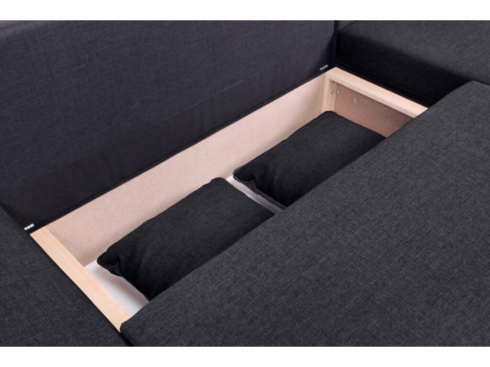 Canapé d'angle convertible réversible coffre NESTOR