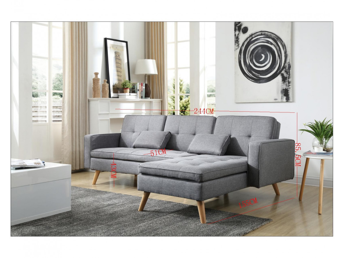 canap d 39 angle r versible convertible nora bobochic paris. Black Bedroom Furniture Sets. Home Design Ideas