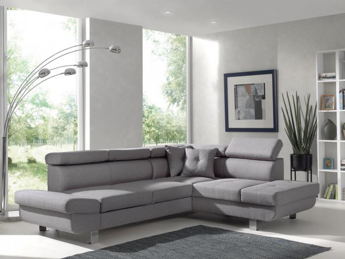 Canapé d'angle convertible LINEA pieds métal