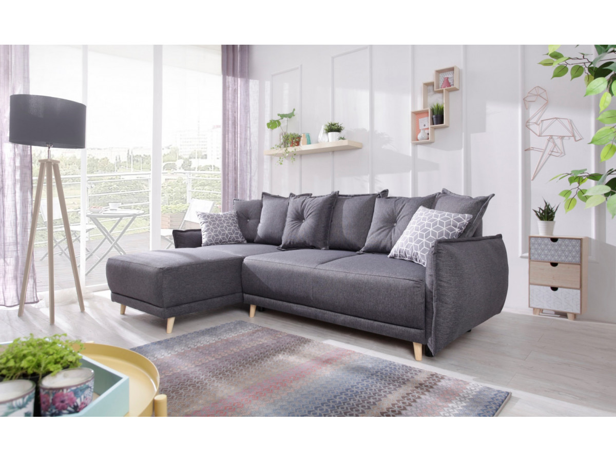 canap d 39 angle lena convertible r versible bobochic. Black Bedroom Furniture Sets. Home Design Ideas