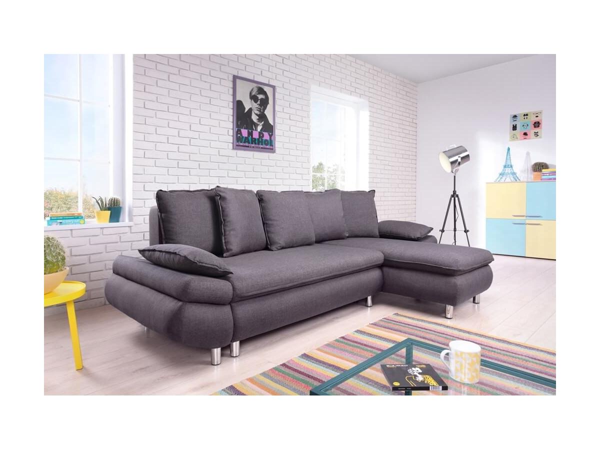 Corner sofa convertible reversible storage compartment NESTOR