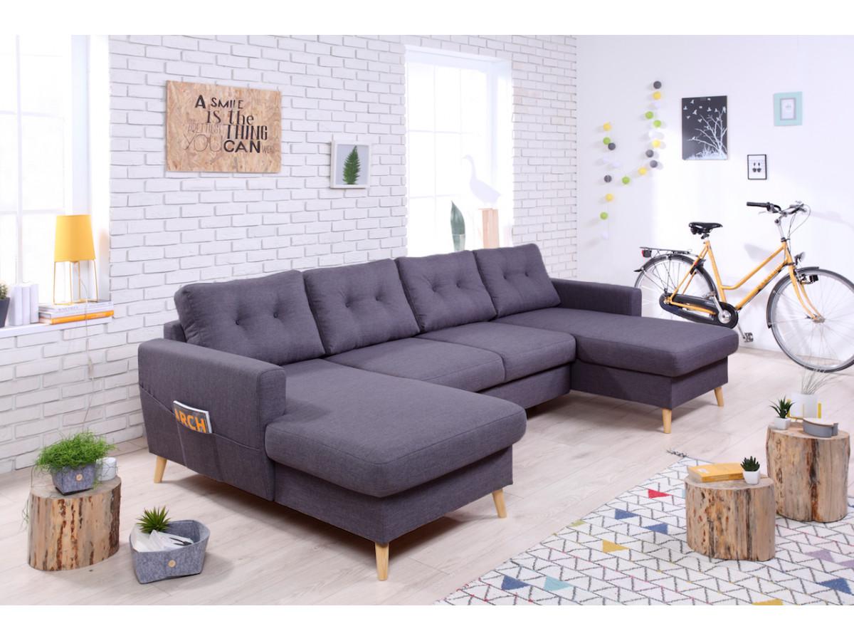 Double sofa meridienne SCANDI fixed