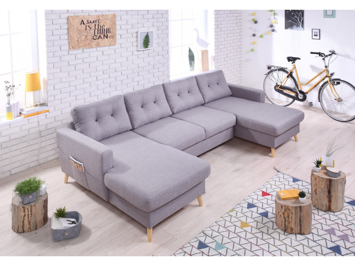 canap fixe xxl scandi bobochic. Black Bedroom Furniture Sets. Home Design Ideas