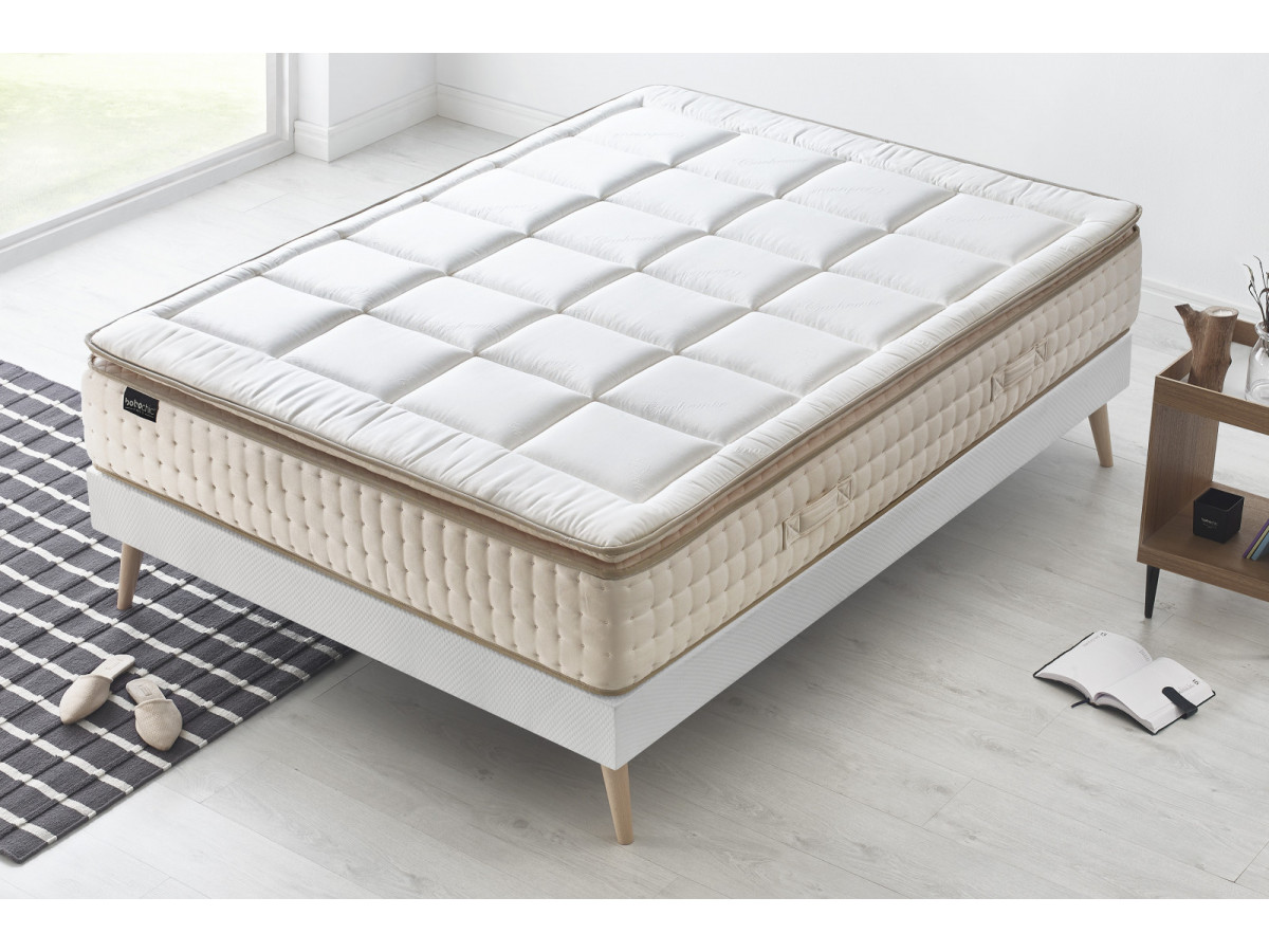ensemble matelas sommier cashmere bobochic. Black Bedroom Furniture Sets. Home Design Ideas
