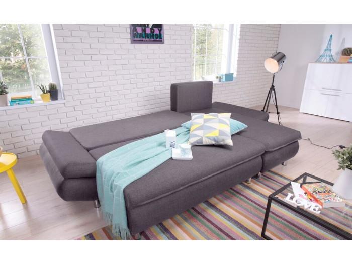 Canapé d'angle NESTOR Réversible Convertible