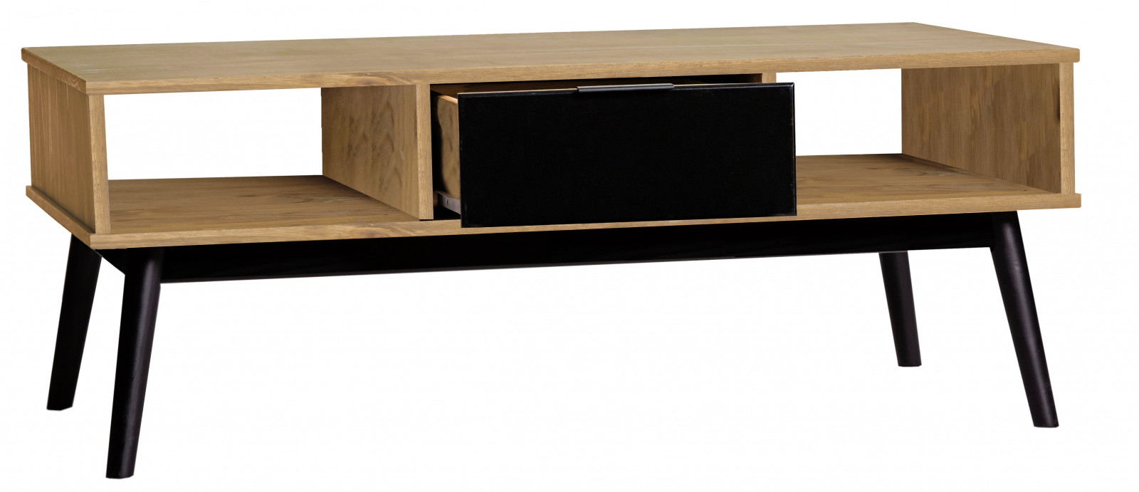 table basse lucia noir et bois cir bobochic. Black Bedroom Furniture Sets. Home Design Ideas