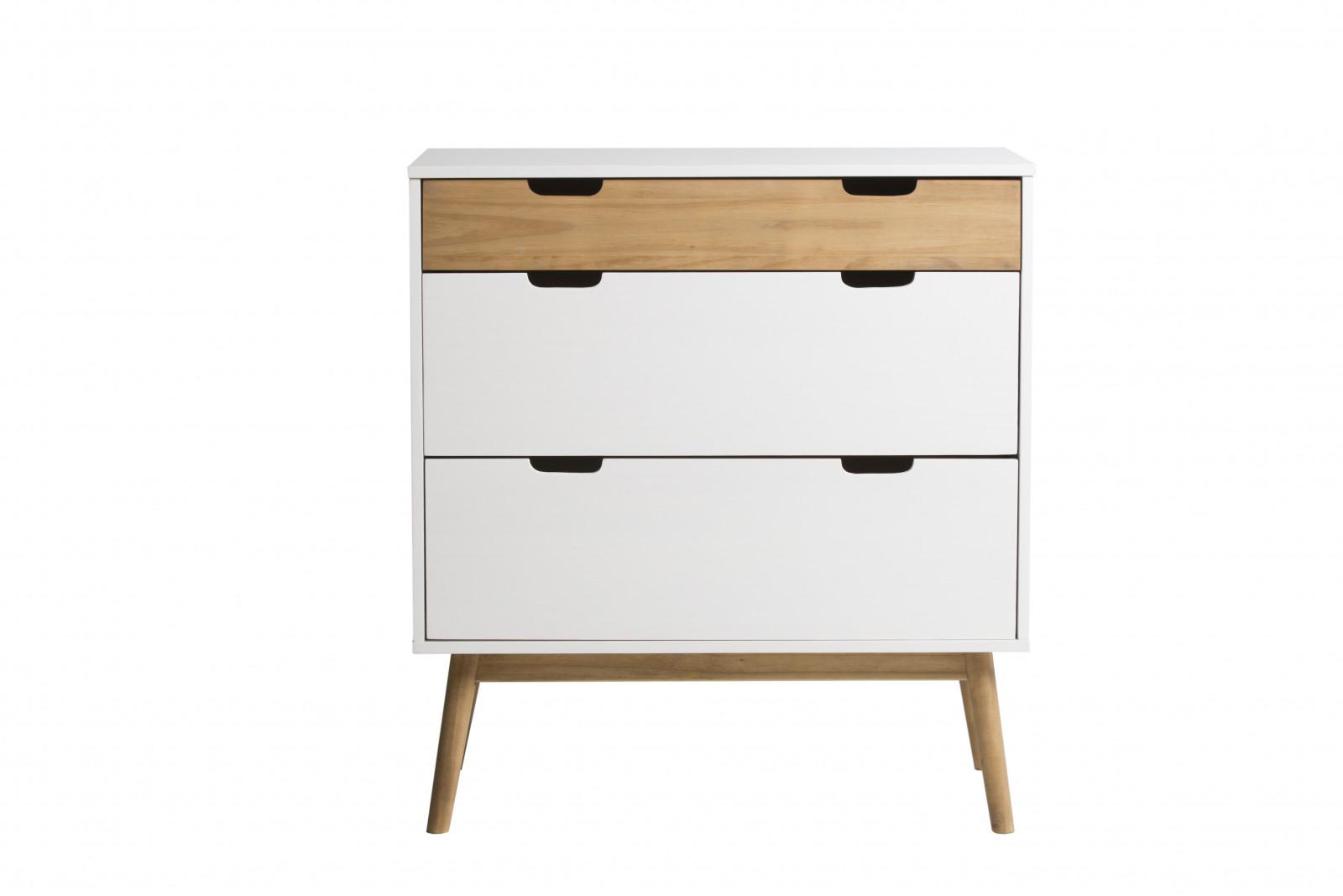 dresser scandinavian 3 drawer maela solid wood bobochic. Black Bedroom Furniture Sets. Home Design Ideas