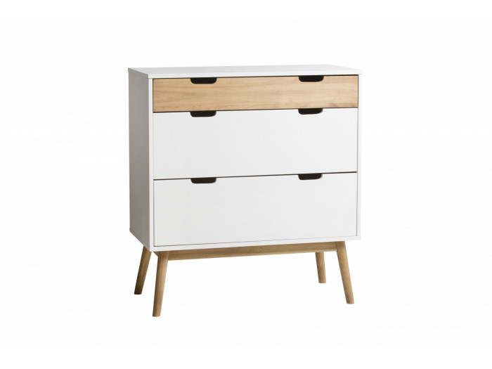 commode scandinave 3 tiroirs maela bois massif. Black Bedroom Furniture Sets. Home Design Ideas