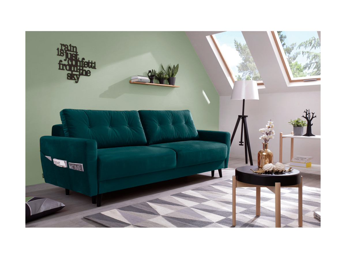 Sofa Scandi 3 seater velvet convertible